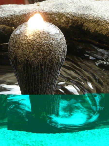 Philippe Ongena - Fontaines vortex (tourbillons) en pierre bleue